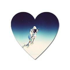Astronaut Heart Magnet