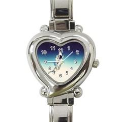 astronaut Heart Italian Charm Watch