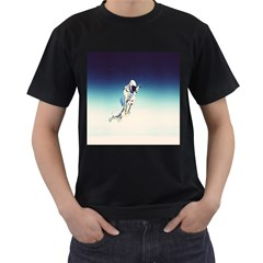 astronaut Men s T-Shirt (Black) (Two Sided)