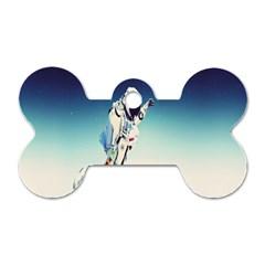 astronaut Dog Tag Bone (One Side)