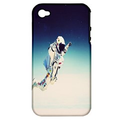 astronaut Apple iPhone 4/4S Hardshell Case (PC+Silicone)