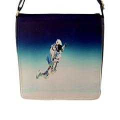 Astronaut Flap Messenger Bag (l)