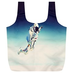 astronaut Full Print Recycle Bags (L)