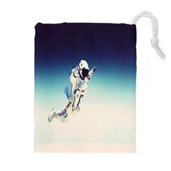 astronaut Drawstring Pouches (Extra Large)