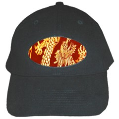 Fabric Pattern Dragon Embroidery Texture Black Cap