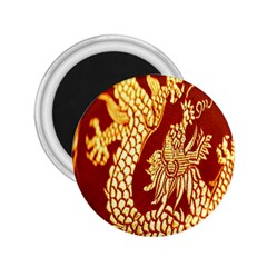 Fabric Pattern Dragon Embroidery Texture 2.25  Magnets