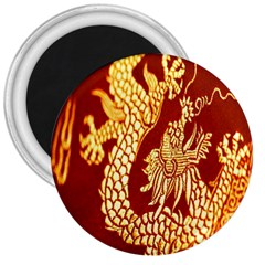 Fabric Pattern Dragon Embroidery Texture 3  Magnets
