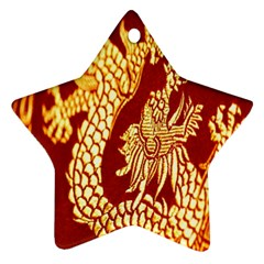 Fabric Pattern Dragon Embroidery Texture Ornament (star)