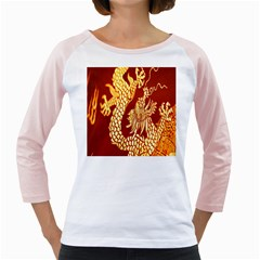 Fabric Pattern Dragon Embroidery Texture Girly Raglans