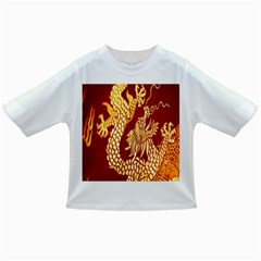 Fabric Pattern Dragon Embroidery Texture Infant/Toddler T-Shirts