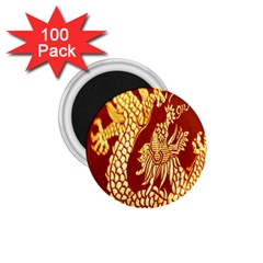 Fabric Pattern Dragon Embroidery Texture 1.75  Magnets (100 pack)