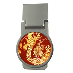 Fabric Pattern Dragon Embroidery Texture Money Clips (round)