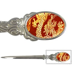 Fabric Pattern Dragon Embroidery Texture Letter Openers