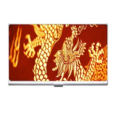 Fabric Pattern Dragon Embroidery Texture Business Card Holders
