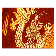Fabric Pattern Dragon Embroidery Texture Rectangular Jigsaw Puzzl