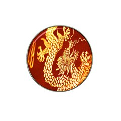 Fabric Pattern Dragon Embroidery Texture Hat Clip Ball Marker (4 pack)