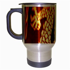 Fabric Pattern Dragon Embroidery Texture Travel Mug (Silver Gray)