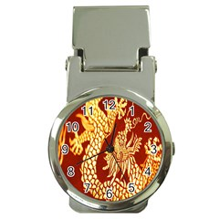 Fabric Pattern Dragon Embroidery Texture Money Clip Watches