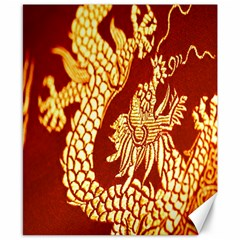 Fabric Pattern Dragon Embroidery Texture Canvas 8  x 10