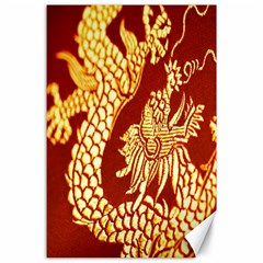 Fabric Pattern Dragon Embroidery Texture Canvas 24  x 36