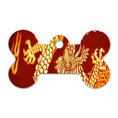 Fabric Pattern Dragon Embroidery Texture Dog Tag Bone (one Side)