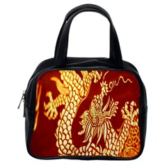 Fabric Pattern Dragon Embroidery Texture Classic Handbags (one Side)
