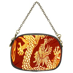 Fabric Pattern Dragon Embroidery Texture Chain Purses (Two Sides)