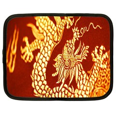 Fabric Pattern Dragon Embroidery Texture Netbook Case (XXL)