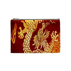 Fabric Pattern Dragon Embroidery Texture Cosmetic Bag (Medium)