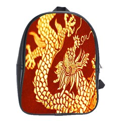 Fabric Pattern Dragon Embroidery Texture School Bags(large)