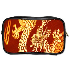 Fabric Pattern Dragon Embroidery Texture Toiletries Bags