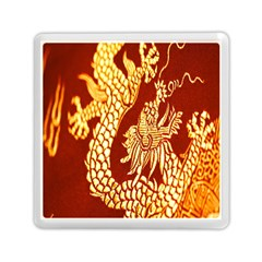 Fabric Pattern Dragon Embroidery Texture Memory Card Reader (square)