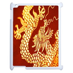 Fabric Pattern Dragon Embroidery Texture Apple iPad 2 Case (White)