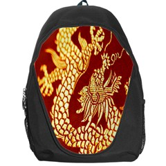 Fabric Pattern Dragon Embroidery Texture Backpack Bag
