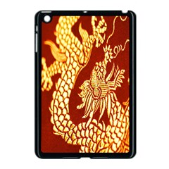 Fabric Pattern Dragon Embroidery Texture Apple iPad Mini Case (Black)