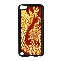 Fabric Pattern Dragon Embroidery Texture Apple iPod Touch 5 Case (Black)