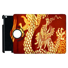 Fabric Pattern Dragon Embroidery Texture Apple iPad 3/4 Flip 360 Case