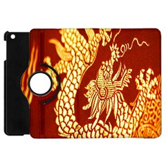 Fabric Pattern Dragon Embroidery Texture Apple Ipad Mini Flip 360 Case