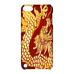 Fabric Pattern Dragon Embroidery Texture Apple Ipod Touch 5 Hardshell Case With Stand