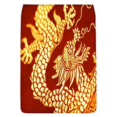 Fabric Pattern Dragon Embroidery Texture Flap Covers (L)
