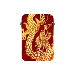 Fabric Pattern Dragon Embroidery Texture Apple iPad Mini Protective Soft Cases
