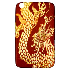 Fabric Pattern Dragon Embroidery Texture Samsung Galaxy Tab 3 (8 ) T3100 Hardshell Case