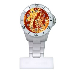 Fabric Pattern Dragon Embroidery Texture Plastic Nurses Watch