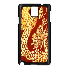 Fabric Pattern Dragon Embroidery Texture Samsung Galaxy Note 3 N9005 Case (Black)
