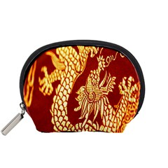 Fabric Pattern Dragon Embroidery Texture Accessory Pouches (Small)