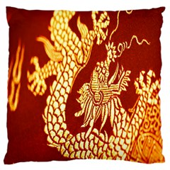 Fabric Pattern Dragon Embroidery Texture Standard Flano Cushion Case (one Side)