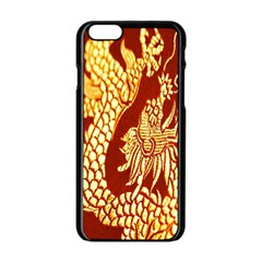 Fabric Pattern Dragon Embroidery Texture Apple Iphone 6/6s Black Enamel Case