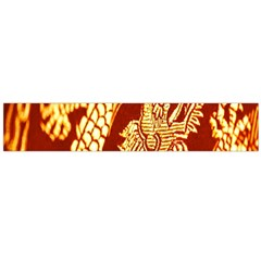 Fabric Pattern Dragon Embroidery Texture Flano Scarf (Large)