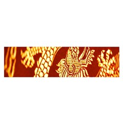Fabric Pattern Dragon Embroidery Texture Satin Scarf (Oblong)