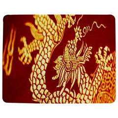 Fabric Pattern Dragon Embroidery Texture Jigsaw Puzzle Photo Stand (rectangular)